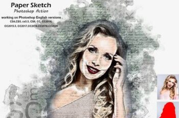 Paper Sketch Photoshop Action 5253996 7