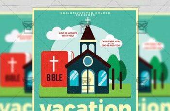 Vacation Bible School Flyer - Church A5 Template 19857 6