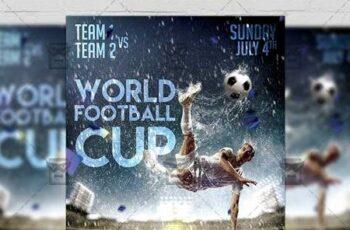 World Football Cup Flyer - Sport A5 Template 19902 4