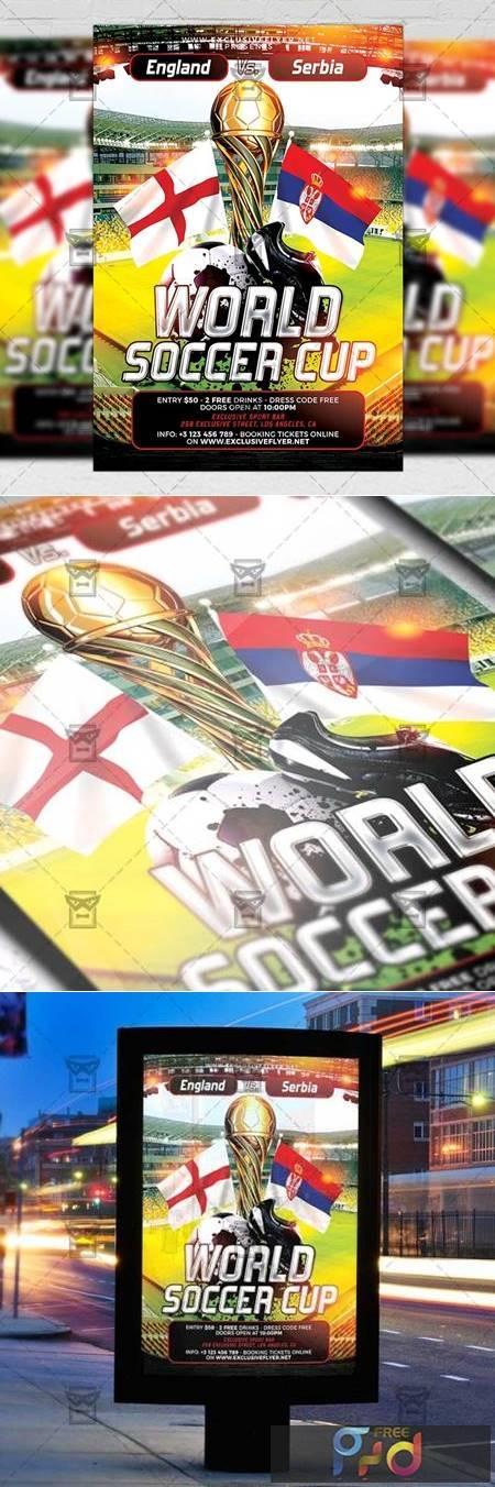 World Soccer Cup Flyer - Sport A5 Template 19874 1