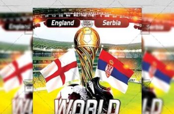World Soccer Cup Flyer - Sport A5 Template 19874 3
