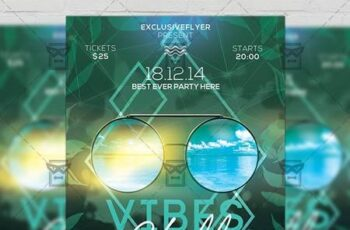 Chill Vibes Flyer - Seasonal A5 Template 19456 4