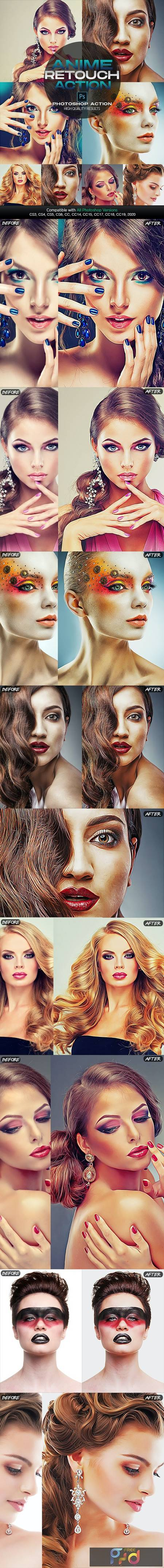 Anime Photo Retouch Photoshop Action 26656091 1