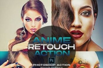 Anime Photo Retouch Photoshop Action 26656091 2