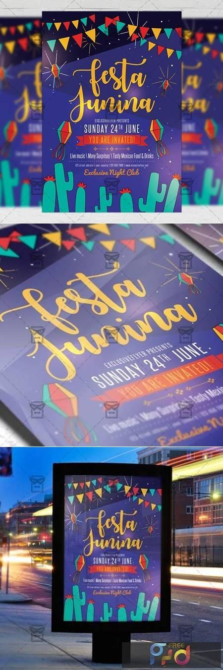 Festa Junina Flyer - Seasonal A5 Template 19624 1