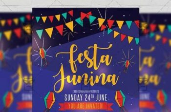 Festa Junina Flyer - Seasonal A5 Template 19624 3