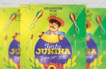 Festa Junina Poster - Seasonal A5 Template 19629 7