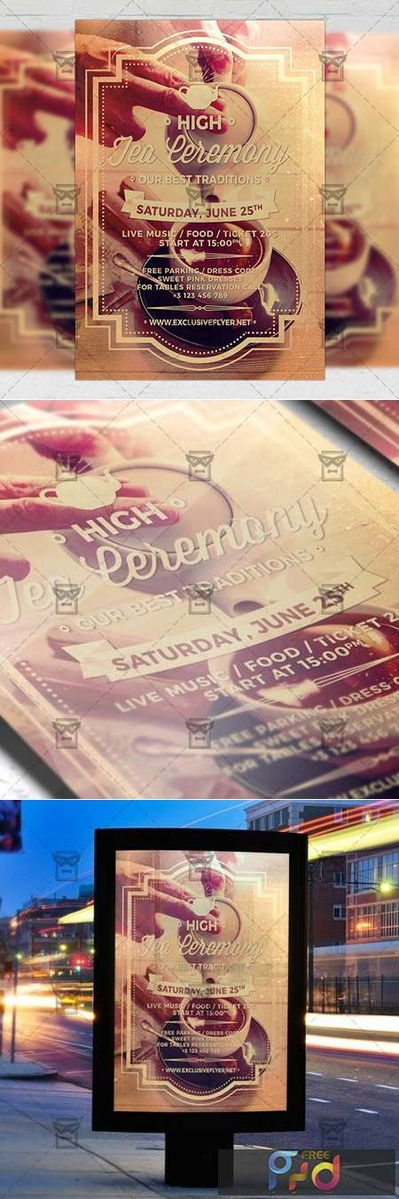High Tea Ceremony Flyer - Community A5 Template 19592 1