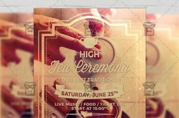 High Tea Ceremony Flyer - Community A5 Template 19592 5