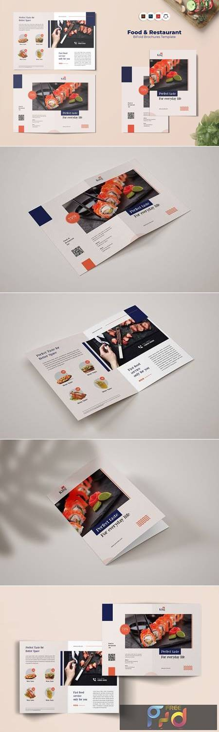 Food & Restaurant Bi-Fold Brochure TG7CBY8 1