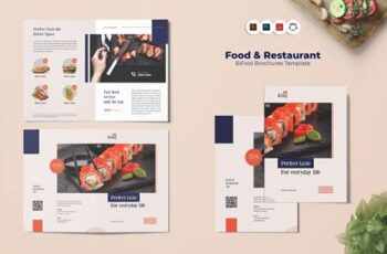 Food & Restaurant Bi-Fold Brochure TG7CBY8 3