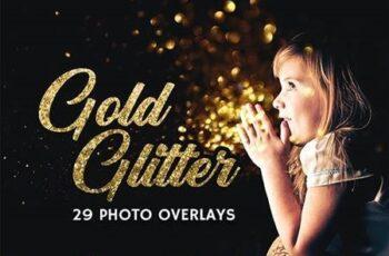 29 Gold Glitter Photo Overlays 27028182 3