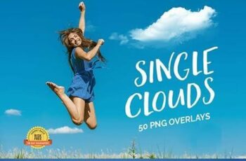50 Single Clouds Photo Overlays 27028119 3