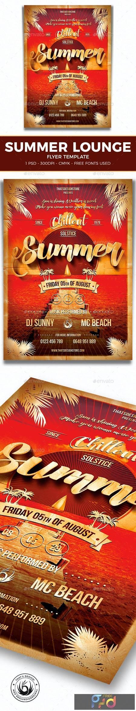 Summer Lounge Flyer Template V1 7972361 1