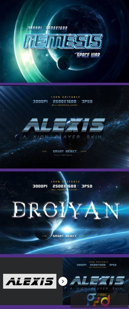 Sci-fi Game Styles - Space Trip Text Effects-Planet Photoshop Text Effects 27491759 1