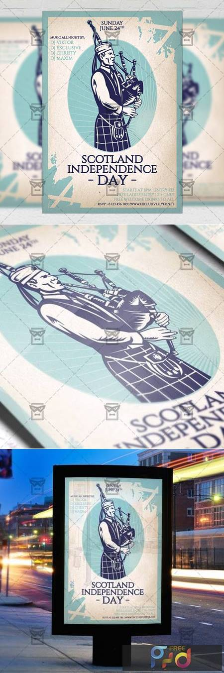 Independence Day of Scotland Flyer - Seasonal A5 Template 19424 1