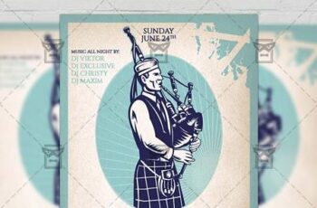 Independence Day of Scotland Flyer - Seasonal A5 Template 19424 4