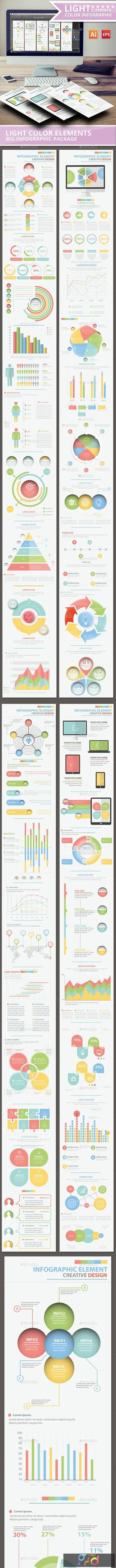 Light Color Info Graphic Elements Design 13111754 1