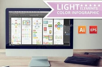 Light Color Info Graphic Elements Design 13111754 13