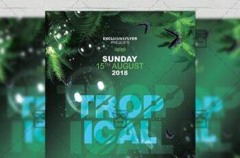 Tropical Mood Flyer - Seasonal A5 Template 19446 4