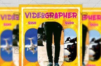 Videographer - Business A5 Flyer Template 19526 6