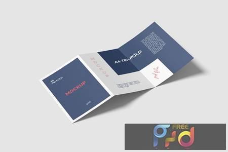 A4 Trifold Brochure Mockup ZXPVGW2 1