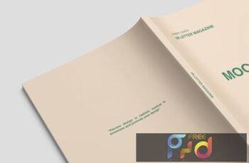 Close up US Letter Magazine Cover Mockup 2D99N6K 5
