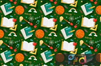 School Pattern Background N8P2NSC 3