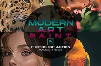 Modern Art Paint Photoshop Action 26711698 5