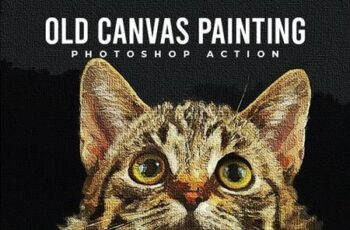 Old Canvas Painting - Photoshop Action 26675061 4
