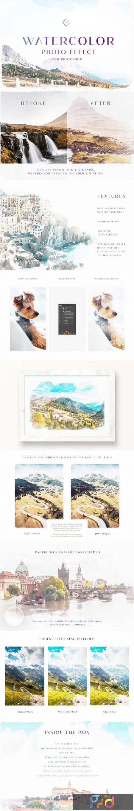 Watercolor Photo Effect 4970039 1