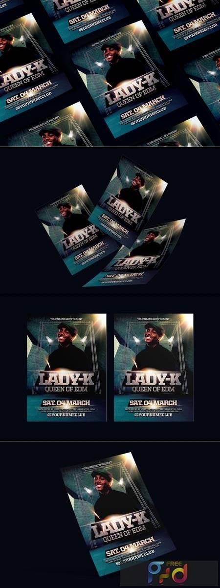 EDM DJ Party Flyer 9N7JZAA 1