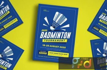 Badminton Tournament Event Flyer NTK7PD 2