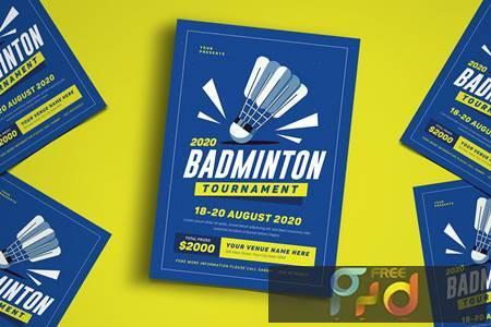 Badminton Tournament Event Flyer NTK7PD 1