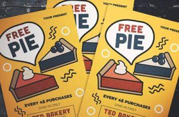 Free Pie Flyer XY7PX9 8
