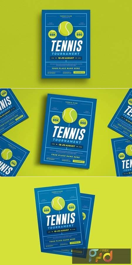 Tennis Tournament Event Flyer M4SRZB 1