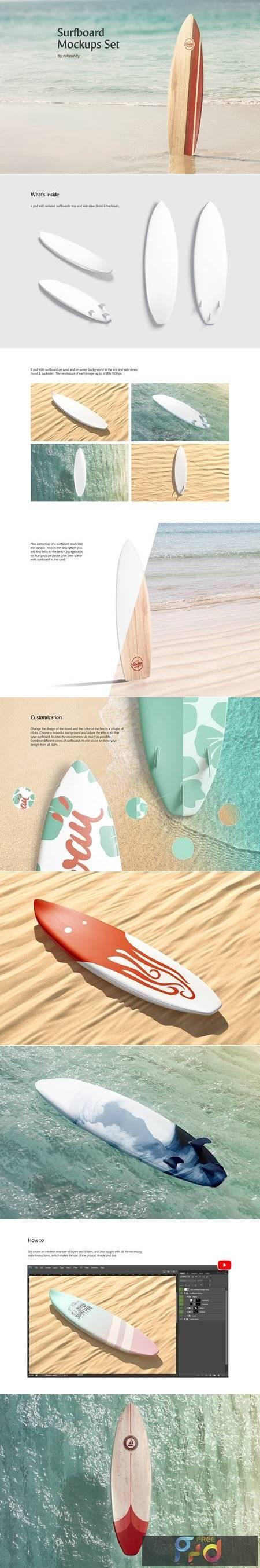 Surfboard Mockups Set 5215163 1