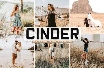 Cinder Mobile & Desktop Lightroom Presets FKLLN59 6