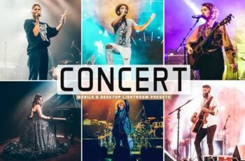 Concert Mobile & Desktop Lightroom Presets J72PGWK 4