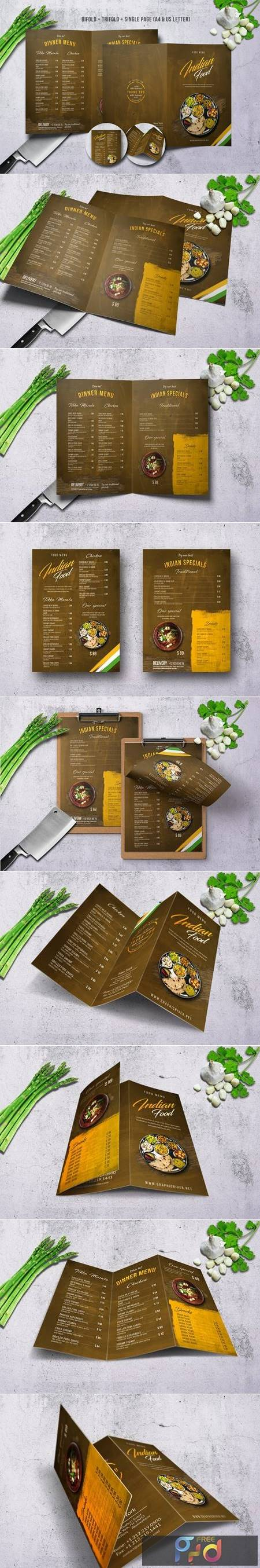 Indian A4 & US Letter Food Menu Bundle SVMAMB 1