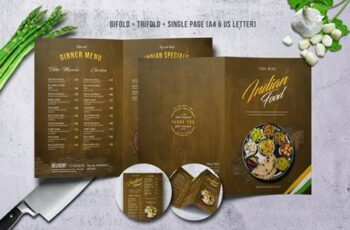 Indian A4 & US Letter Food Menu Bundle SVMAMB 3