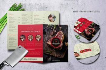 Meat Atelier Menu Bundle (A4 + US Letter) 855WLA 7