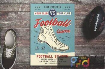 American Football Game Flyer QAJKANX 1