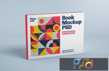 Horizontal Book Cover Mockup UKHBU75 7