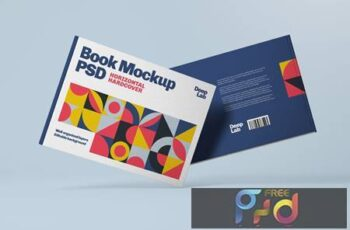 Horizontal Book Cover Mockup BQ64T4T 2