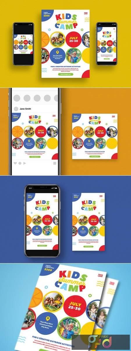 Kids Summer Camp Flyer Set HWJKC8M 1