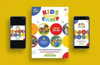 Kids Summer Camp Flyer Set HWJKC8M 7