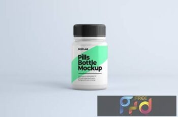 Medical Pill Bottle Mockup WSQMYJQ 2