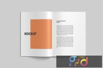 Open US Letter Magazine Mockup top view N7GHG8A 3