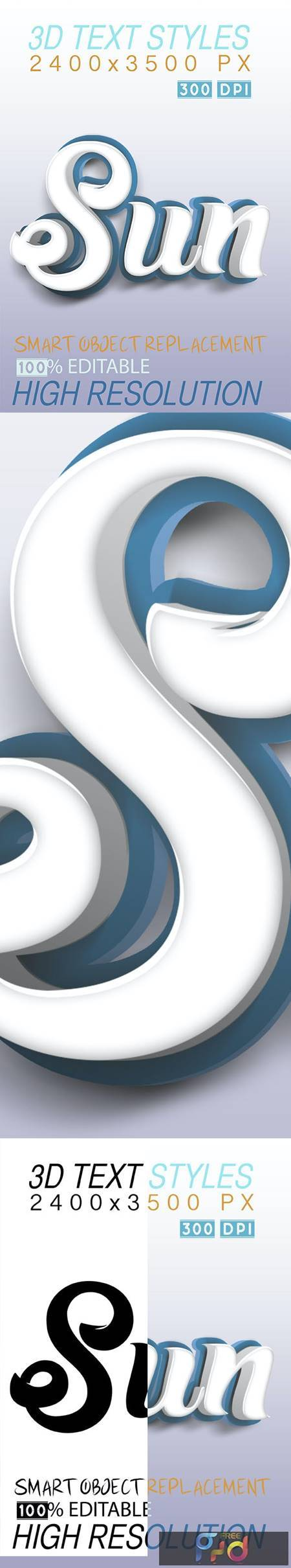 3D Text Effect Styles Blue 26654738 1